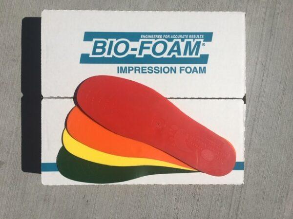Foam molding box and testing kit